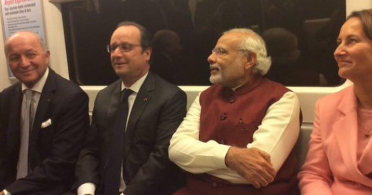 Watch Narendra Modi Francois Hollande Take A Metro Ride In Delhi Huffpost India
