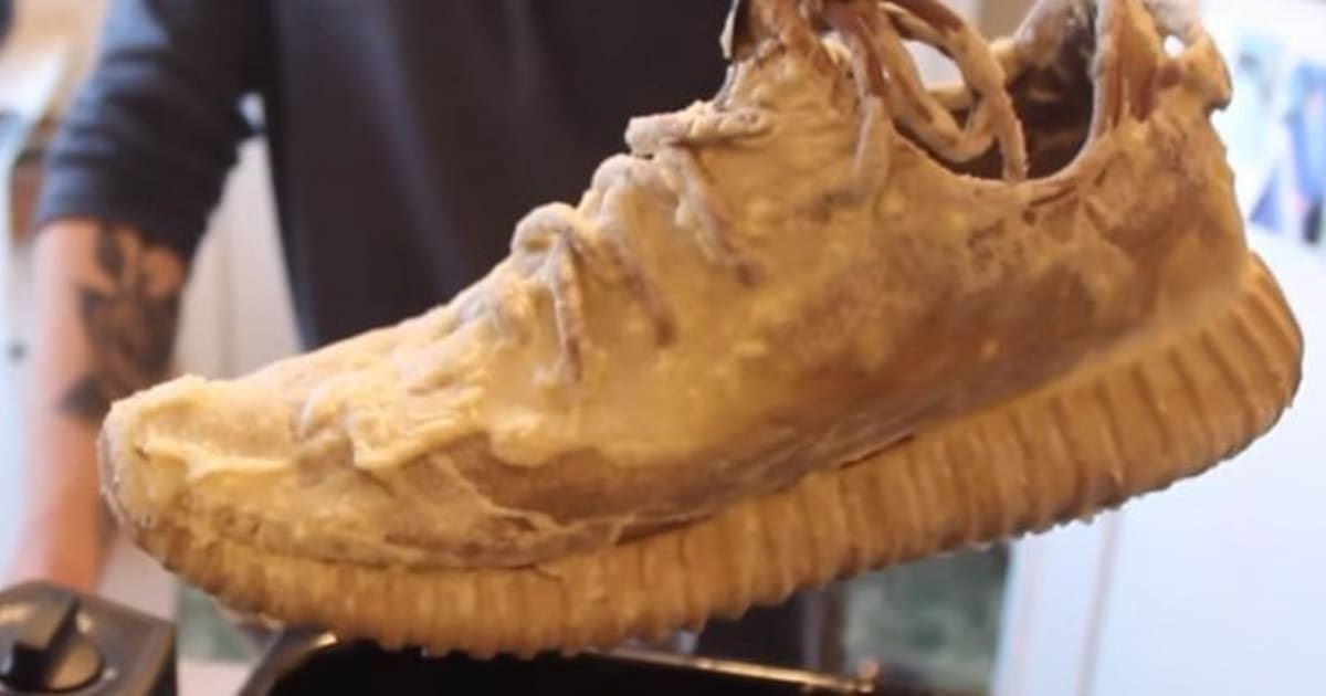9becba73d0a This Guy Just Deep-Fried His Yeezy Boost 350s Because He Thought It Would  Be  Dope