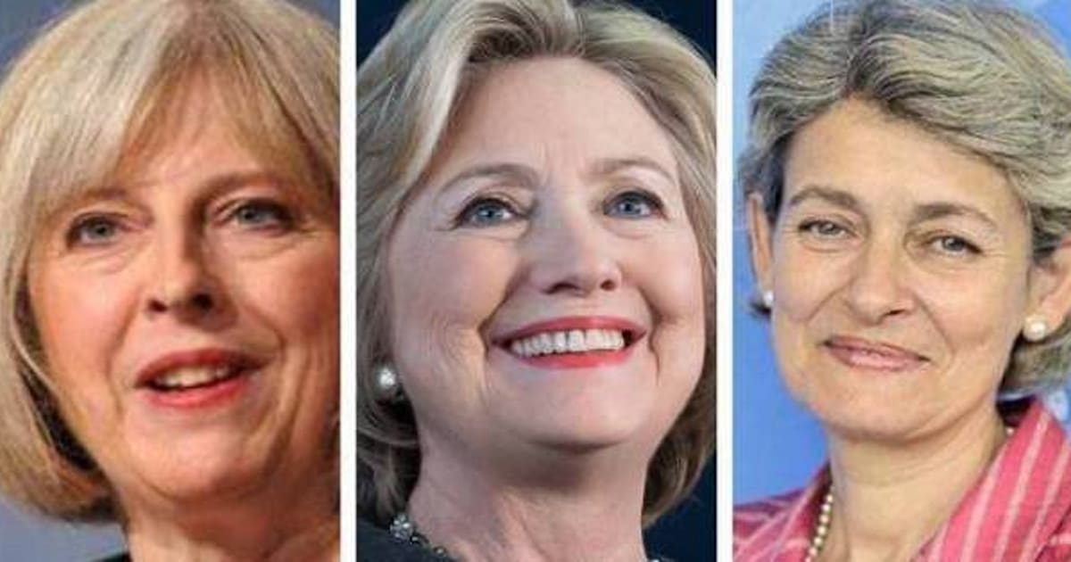 May, Clinton e Bokova