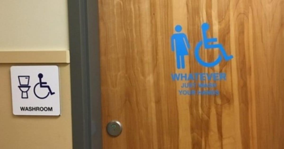 B C School On Gender Neutral Bathrooms Whatever Just
