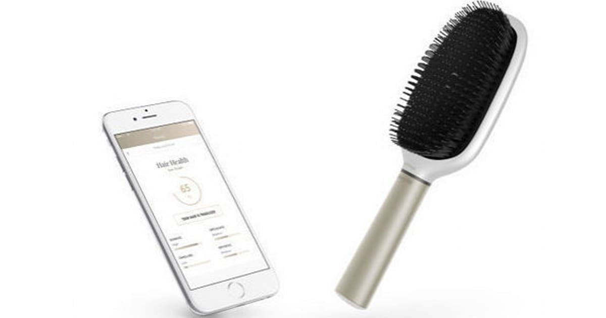 krastase invents smart hairbrush to tell you when your hair is damaged