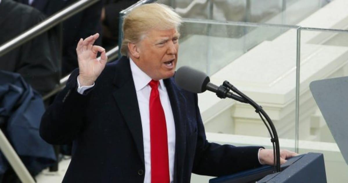 Lee íntegro el discurso de investidura de Donald Trump