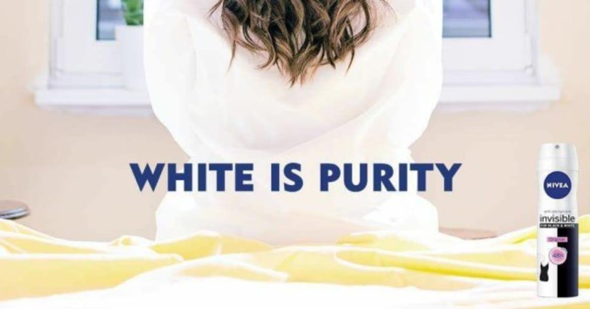 «White is Purity»: le slogan de Nivea qui ne passe pas