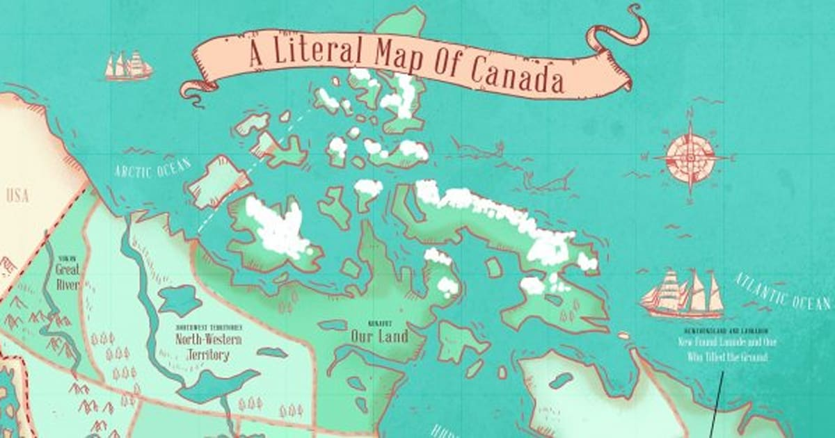 Canada Map Territories.Map Reveals Name Origins Of Canada S Provinces And Territories