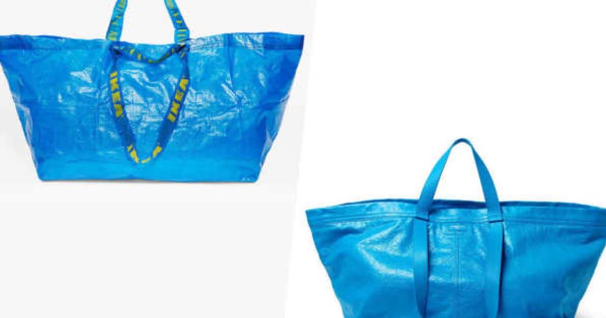ikea responds to balenciaga s take on blue bag with spot the super ... 91f59b0f471c7