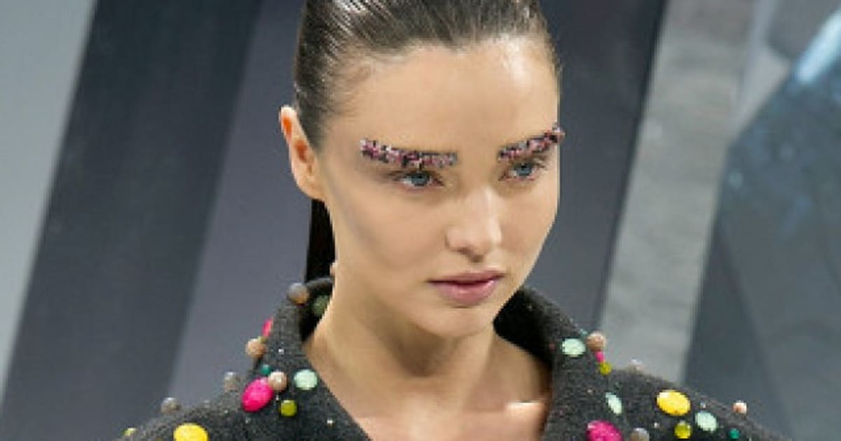 Chanel Glitter Eyebrows: Would You Try Eyebrow Art ...