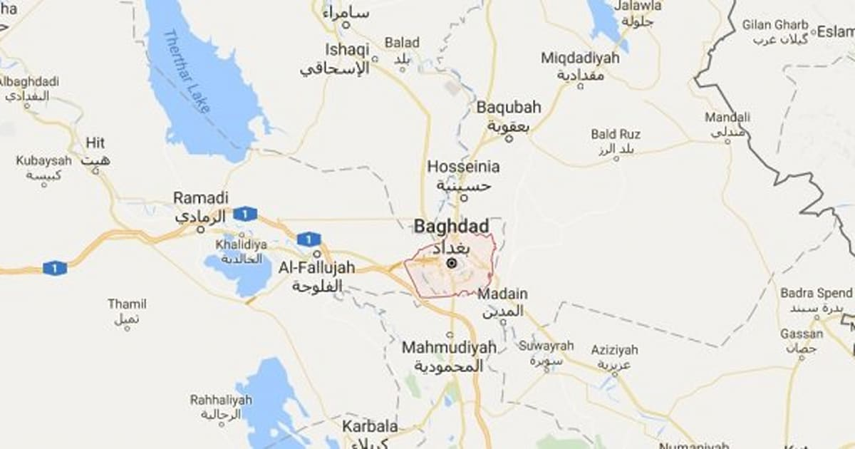 ISIS Claims Responsibility For Killing At Baghdad Ice Cream Shop - Baghdad map world