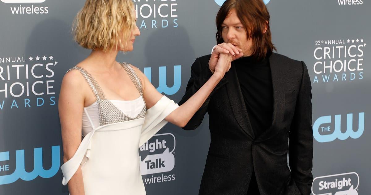 """Diane Kruger et Norman Reedus de """"Walking Dead"""" officialisent sur les tapis rouges"""