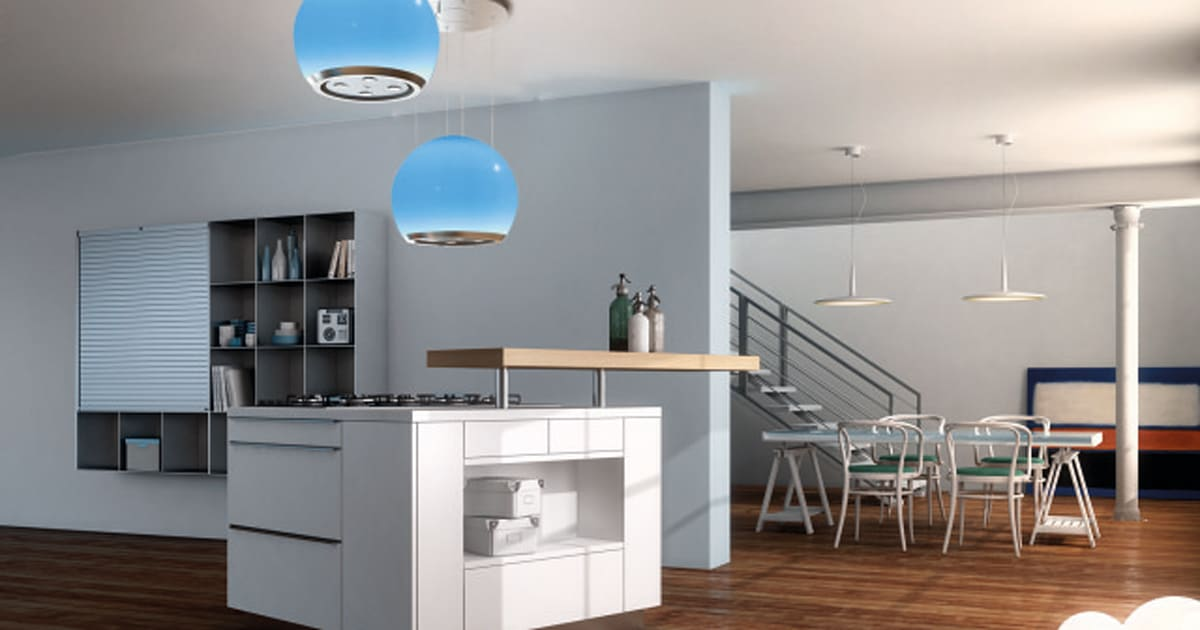 Salone del mobile le cappe da cucina faber silenziose colorate funzionali eleganti foto - Cappe da cucina faber ...