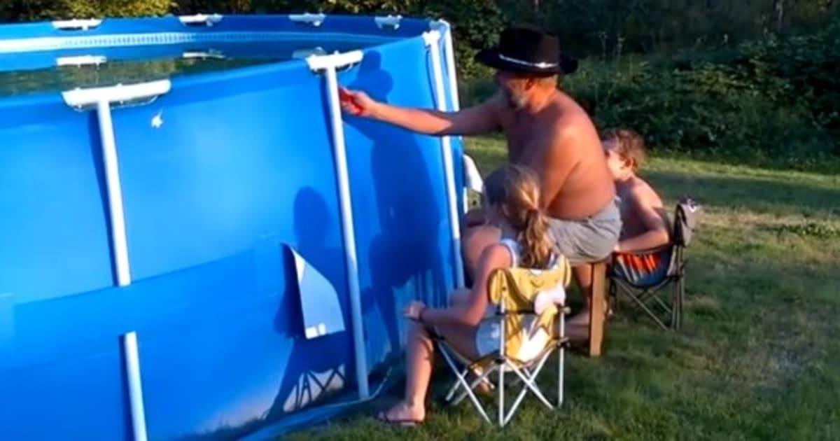 vid o comment vider une piscine en moins de deux secondes le huffington post. Black Bedroom Furniture Sets. Home Design Ideas