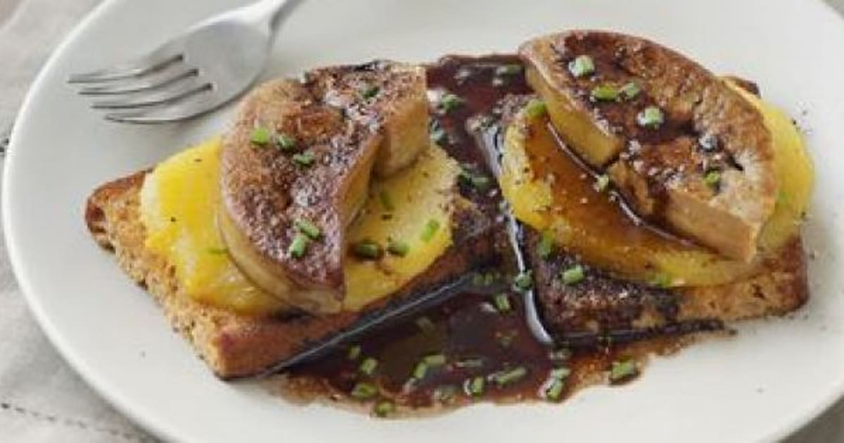 la recette du week end foie gras po l la mangue. Black Bedroom Furniture Sets. Home Design Ideas