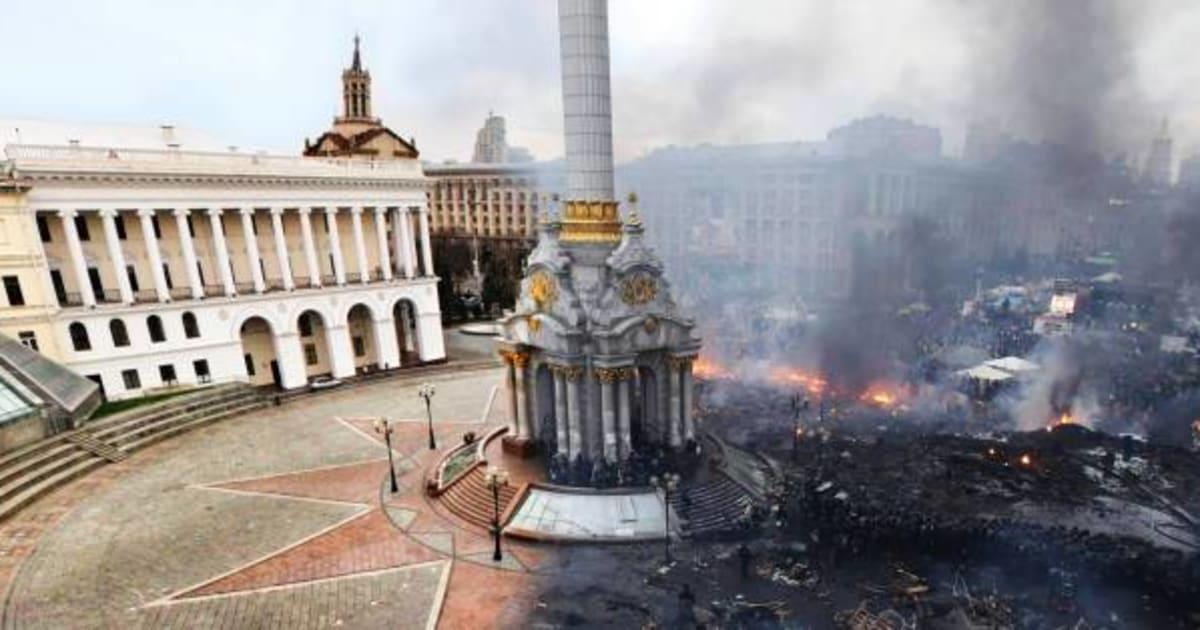 photo violences en ukraine un avant apr s frappant du ma dan kiev. Black Bedroom Furniture Sets. Home Design Ideas