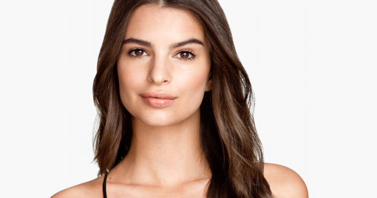 emily ratajkowski models lingerie for h m. Black Bedroom Furniture Sets. Home Design Ideas