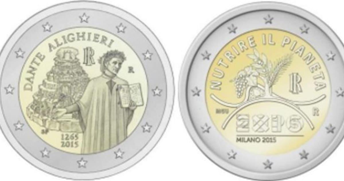 le monete da 2 euro commemorative del 2015 l 39 italia le dedicher a dante alighieri e all 39 expo. Black Bedroom Furniture Sets. Home Design Ideas