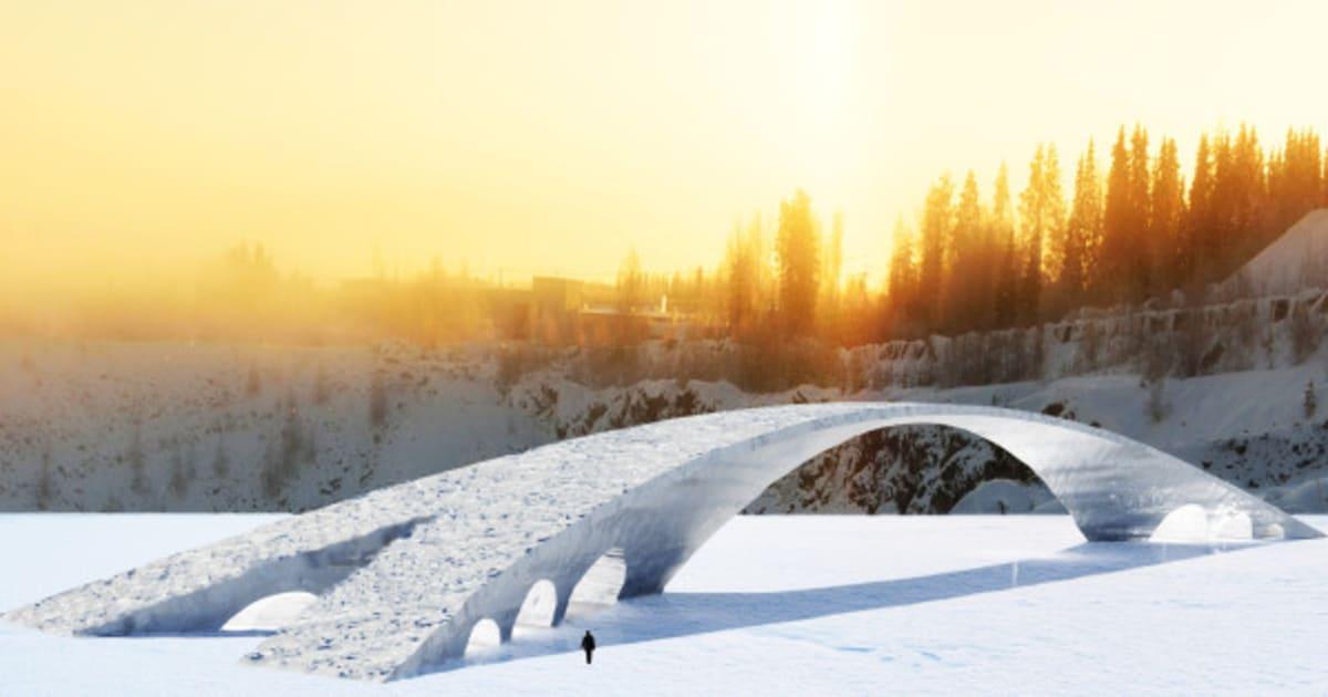 Photos finlande un pont de glace pour rendre hommage - Pont leonard de vinci ...