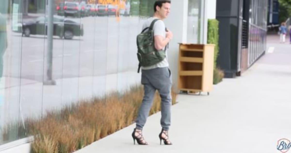 vid o cet homme porte des chaussures talons pendant une journ e et d clare vouloir mourir. Black Bedroom Furniture Sets. Home Design Ideas