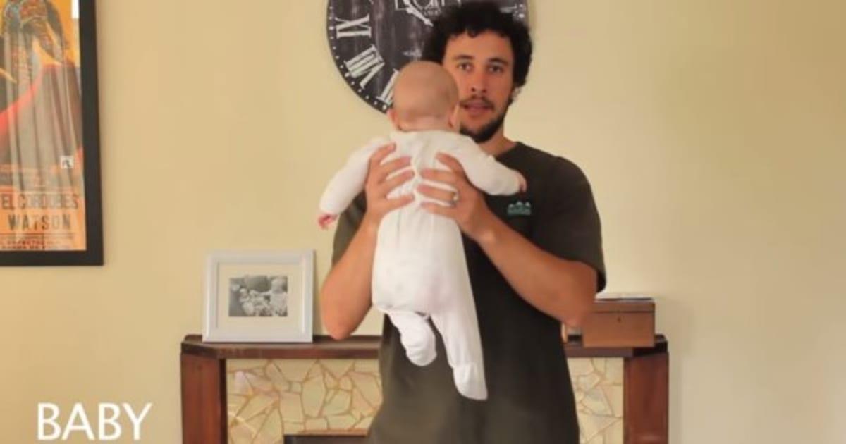 Comment porter un b b un papa vous montre 17 fa ons de - Rever de porter un bebe dans les bras ...