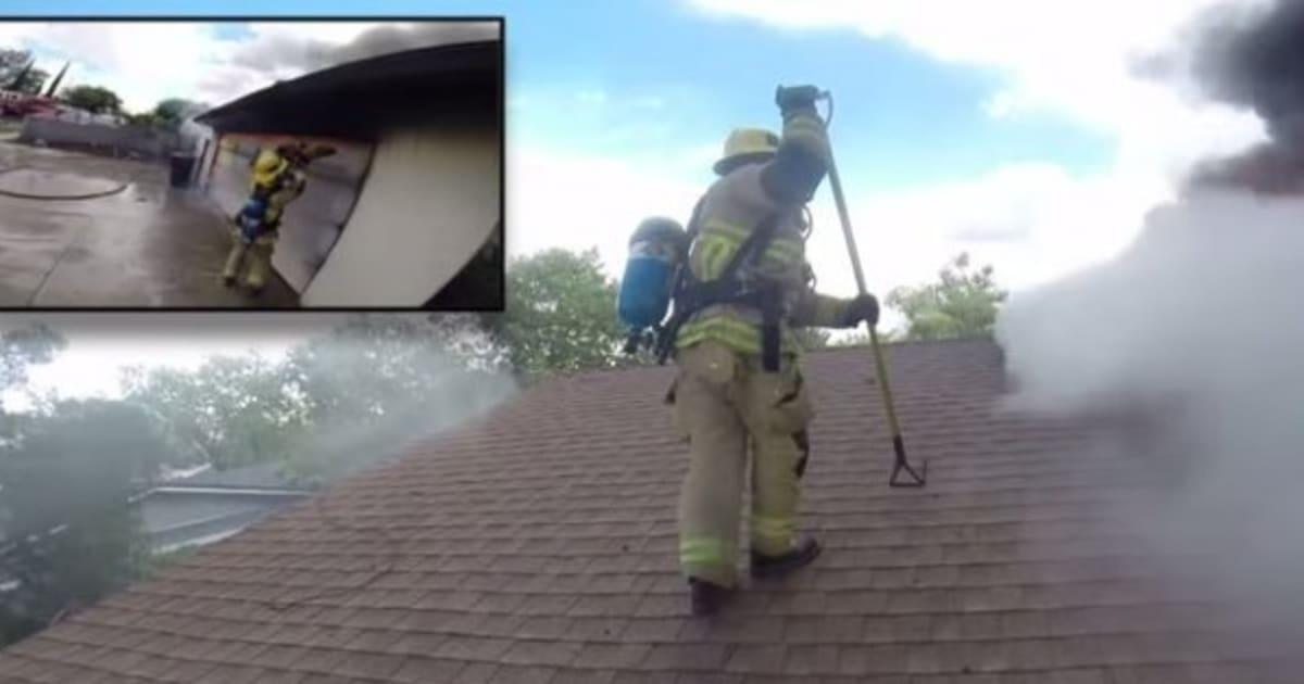 vid o un pompier filme une de ses interventions et donne une nouvelle preuve de la dangerosit. Black Bedroom Furniture Sets. Home Design Ideas