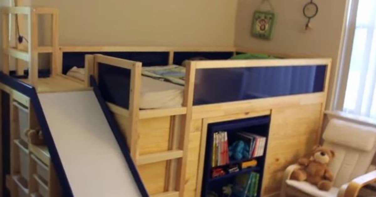 ikea hack makes for 39 most awesome 39 kids 39 bed ever. Black Bedroom Furniture Sets. Home Design Ideas
