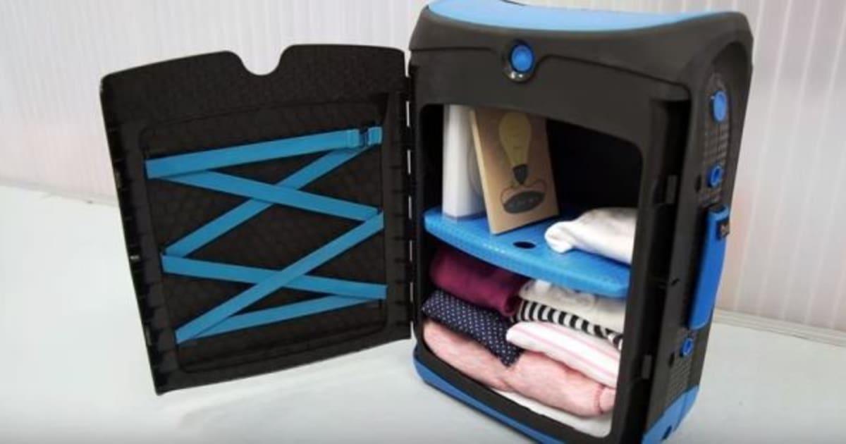 les accros du rangement vont adorer cette valise de voyage. Black Bedroom Furniture Sets. Home Design Ideas