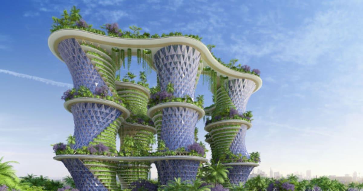 Photos hyp rions un projet d 39 immeuble agritectural du for Les espaces verts en ville