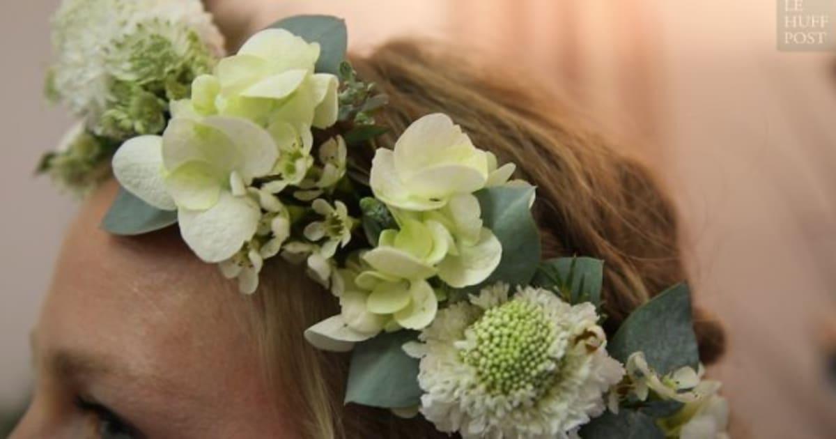 vid o nous avons demand des pros comment faire une couronne de fleurs. Black Bedroom Furniture Sets. Home Design Ideas