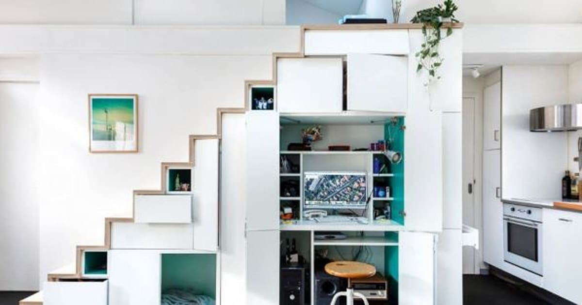 17 clever staircases with storage built in. Black Bedroom Furniture Sets. Home Design Ideas