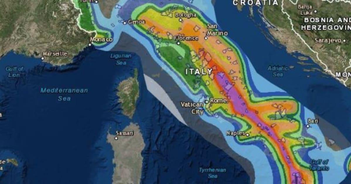 Zone a rischio la mappa interattiva dell 39 ingv che for Mappa sismica italia