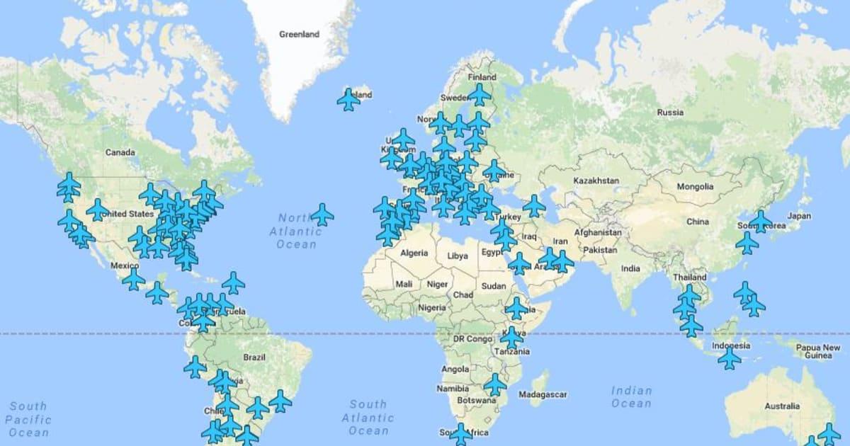 les codes wifi d 39 a roports du monde entier r unis sur une carte le huffington post. Black Bedroom Furniture Sets. Home Design Ideas