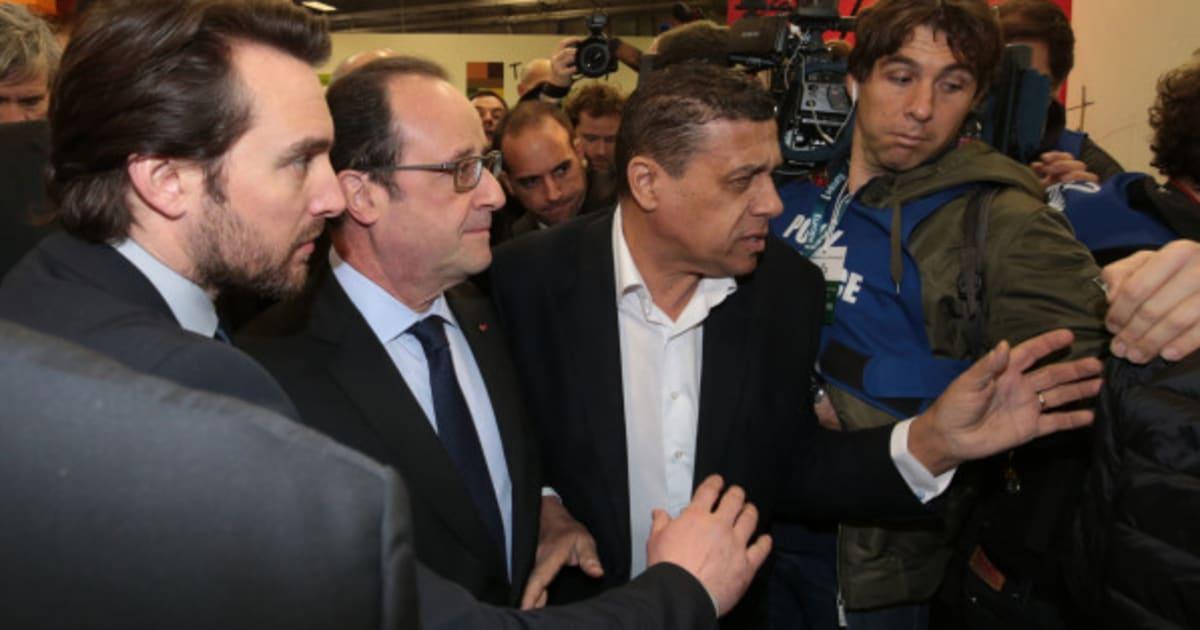 Fran ois hollande arrive au salon de l 39 agriculture sous for Hollande salon agriculture