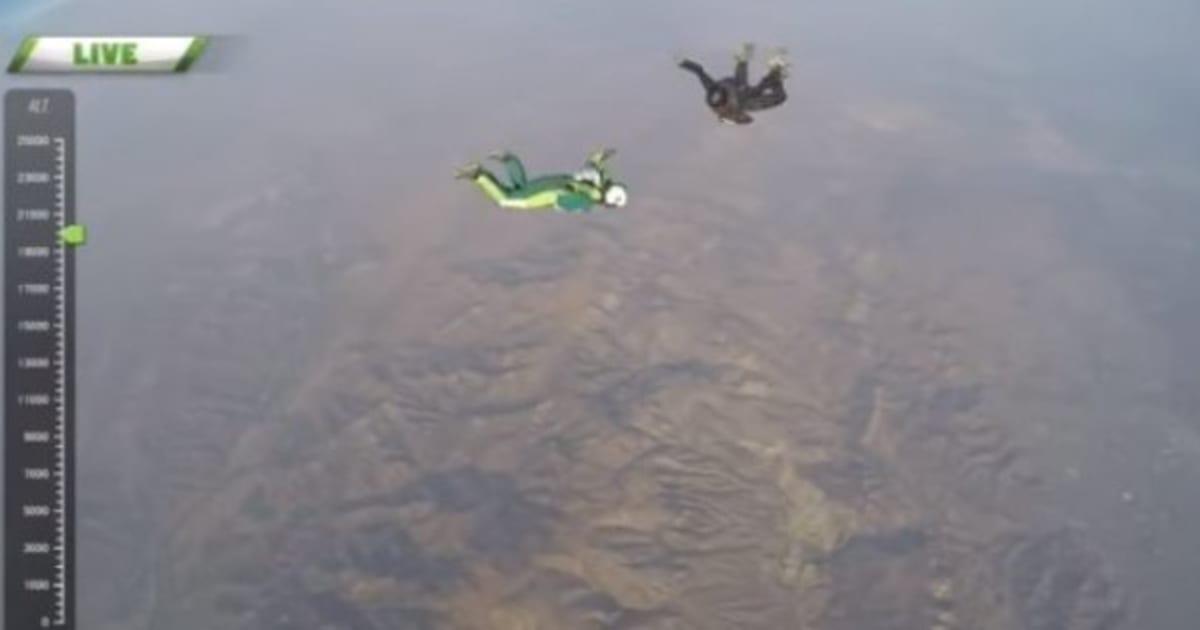 saut en parachute 7600m