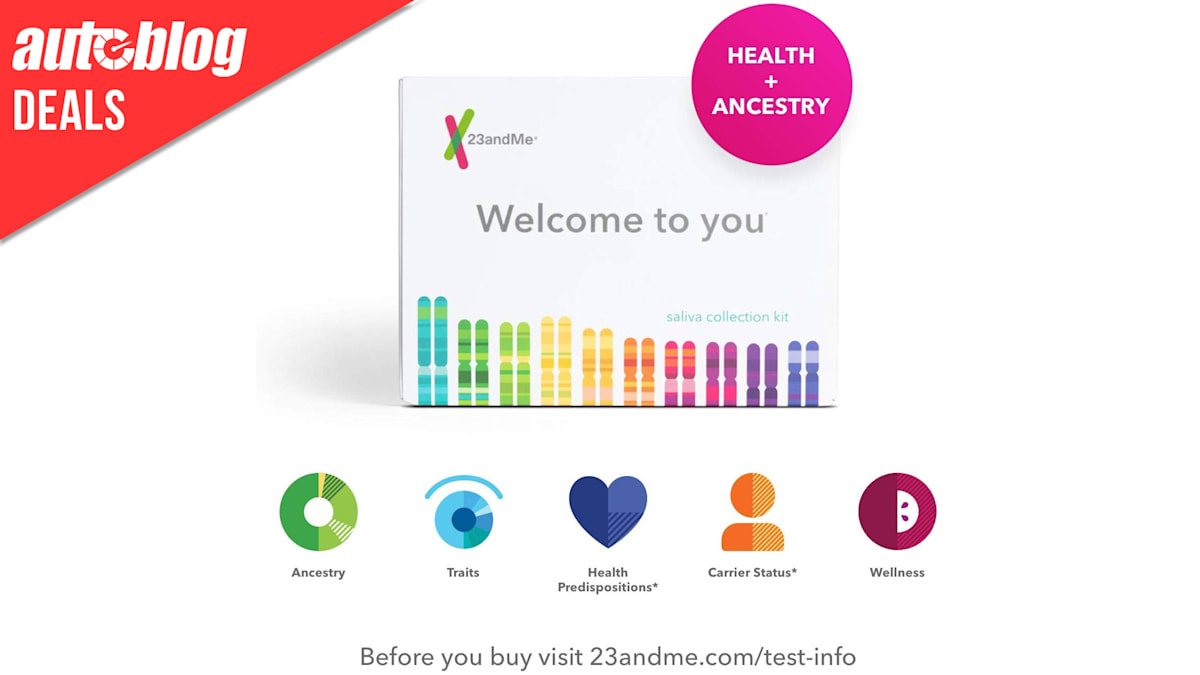 Find the gearheads in your family tree with this 50% off 23andMe kit