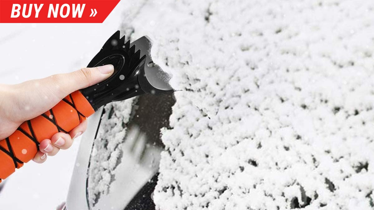 Don't get caught without a snow scraper the second half of winter
