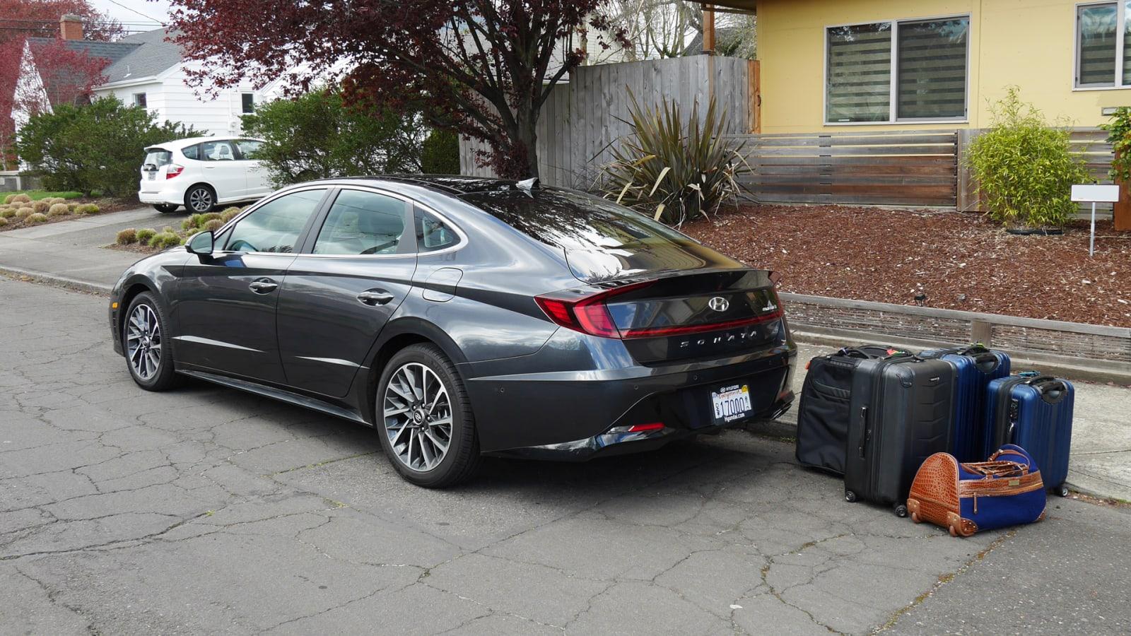 2020 Hyundai Sonata luggage test