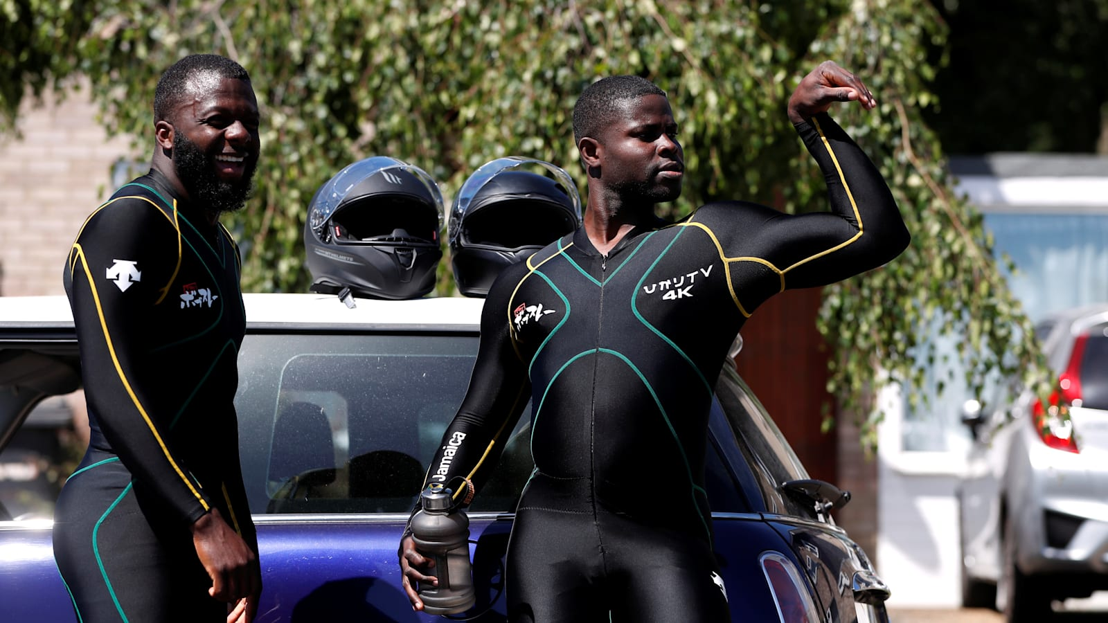 Jamaican Bobsled Team Stays Fit For Olympics By Pushing A Mini Around Autoblog