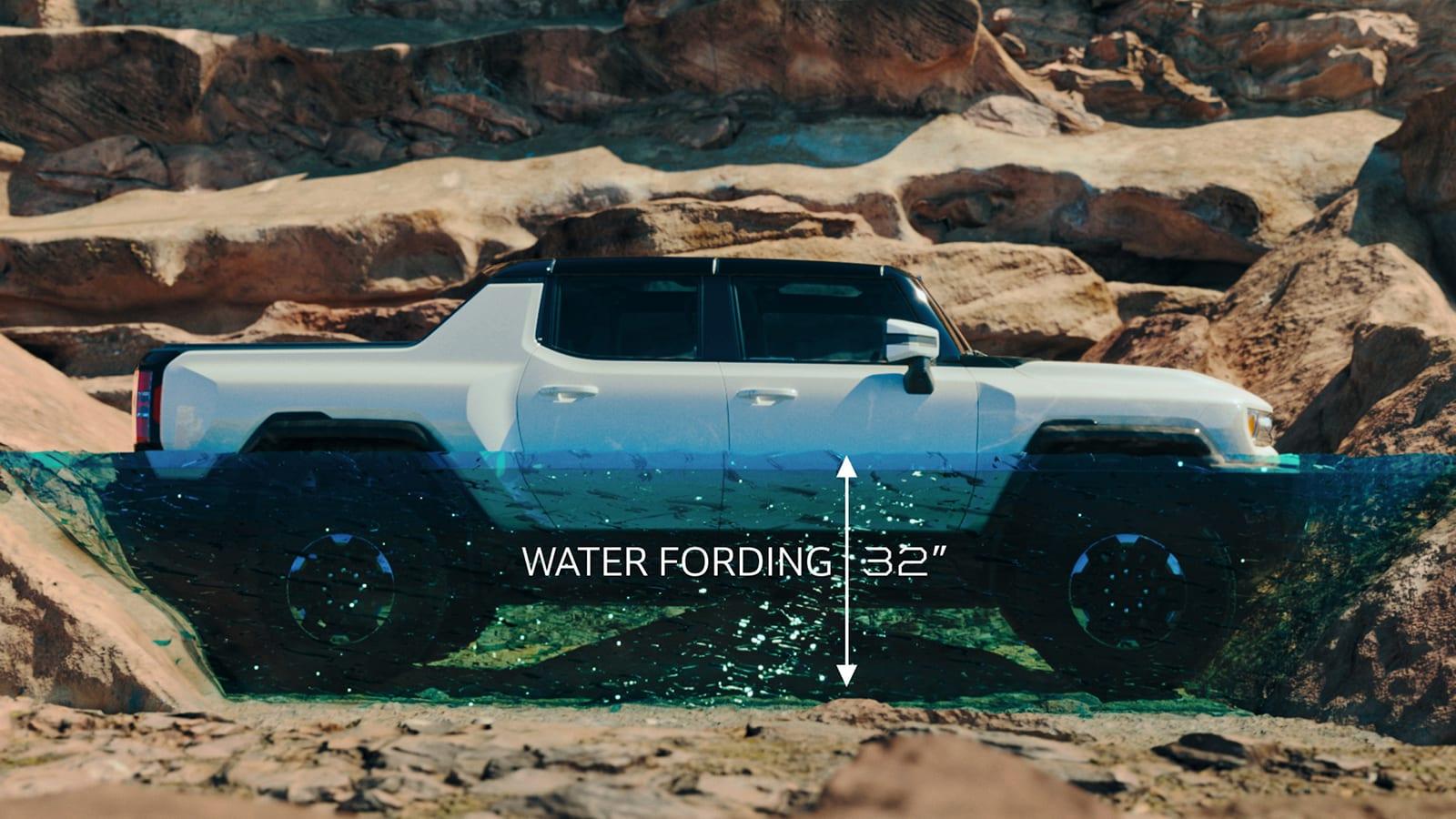 2022 GMC Hummer EV fording depth