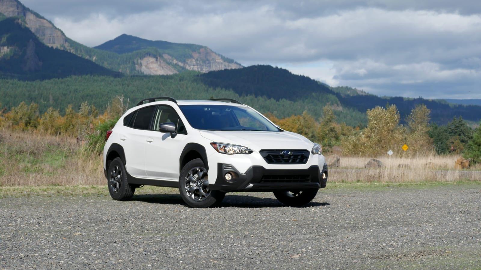 2021 Subaru Crosstrek Sport front in white
