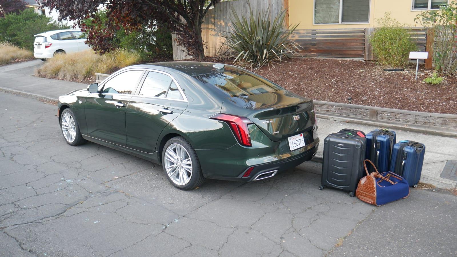 Cadillac CT4 Luggage Test