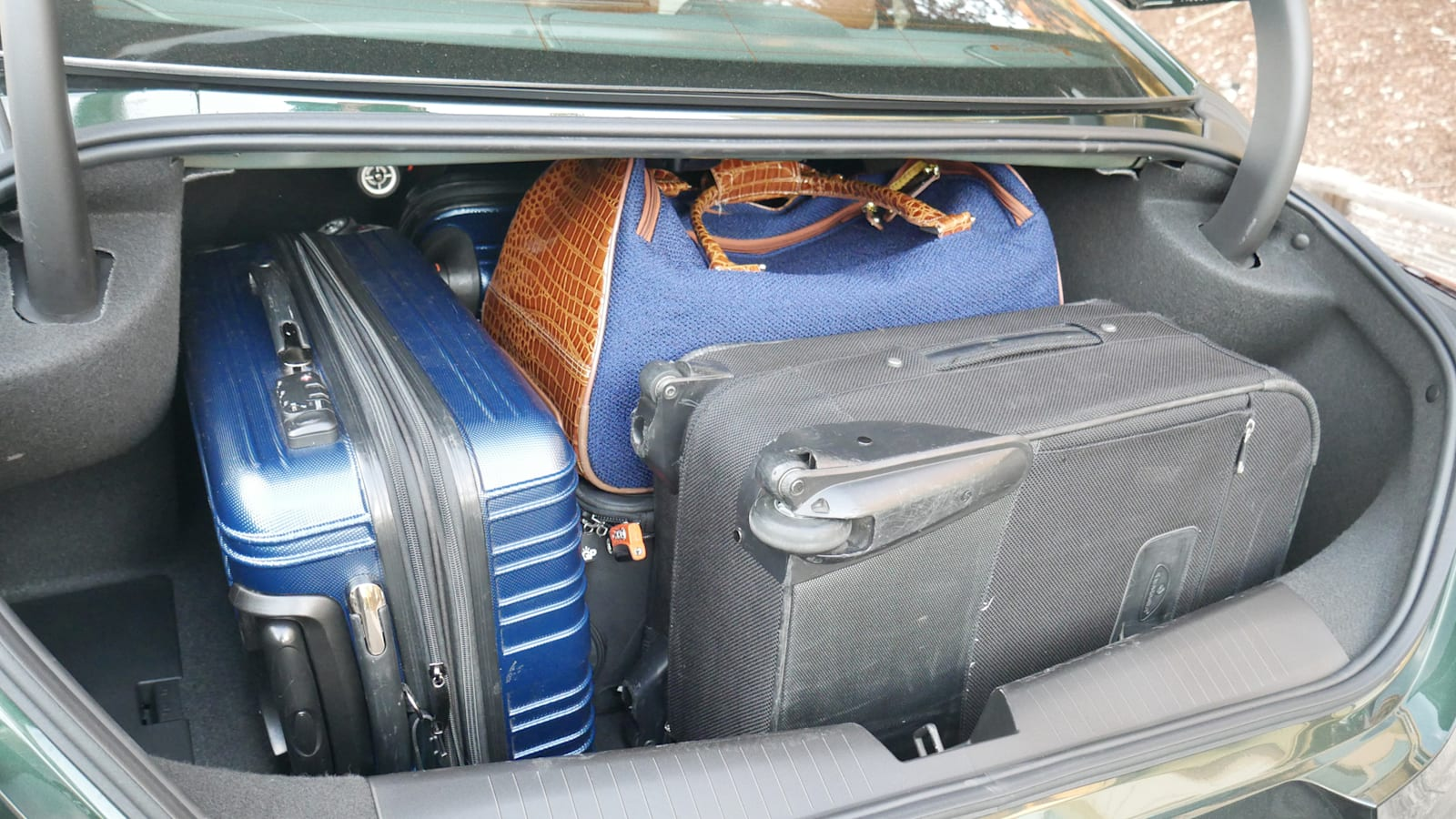 Cadillac CT4 Luggage Test loaded