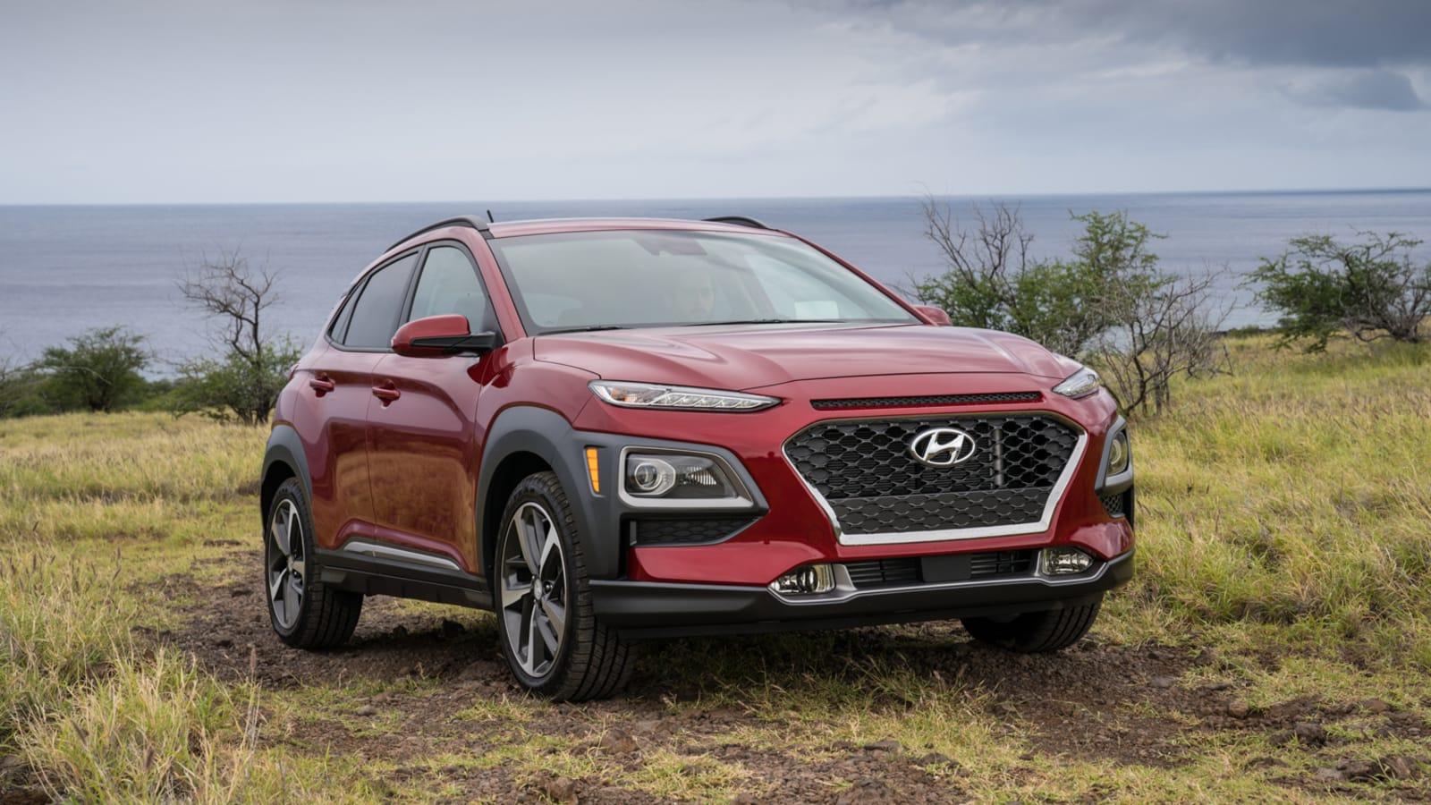 2021 Hyundai Kona in red off-road