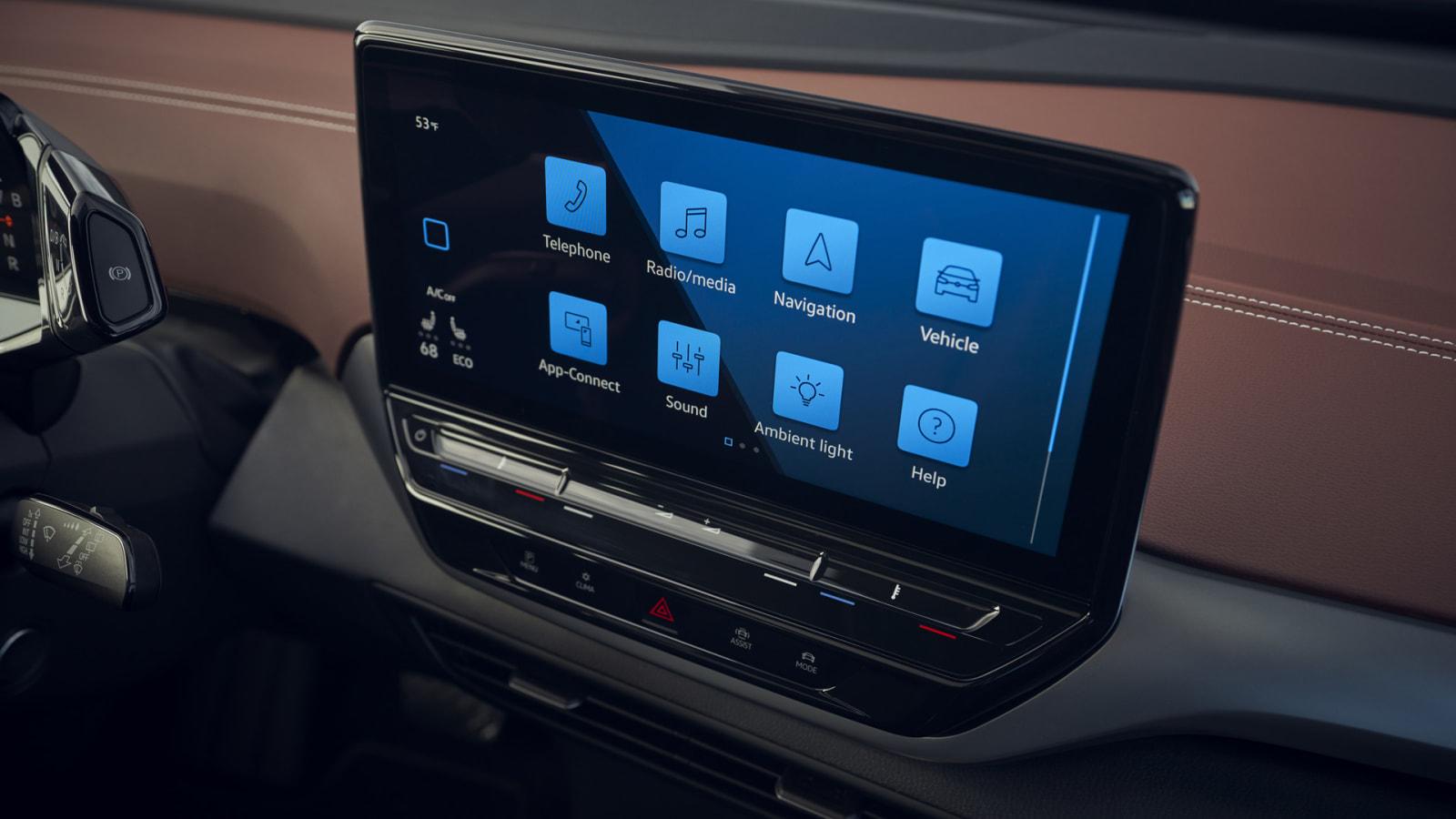 VW ID4 touchscreen