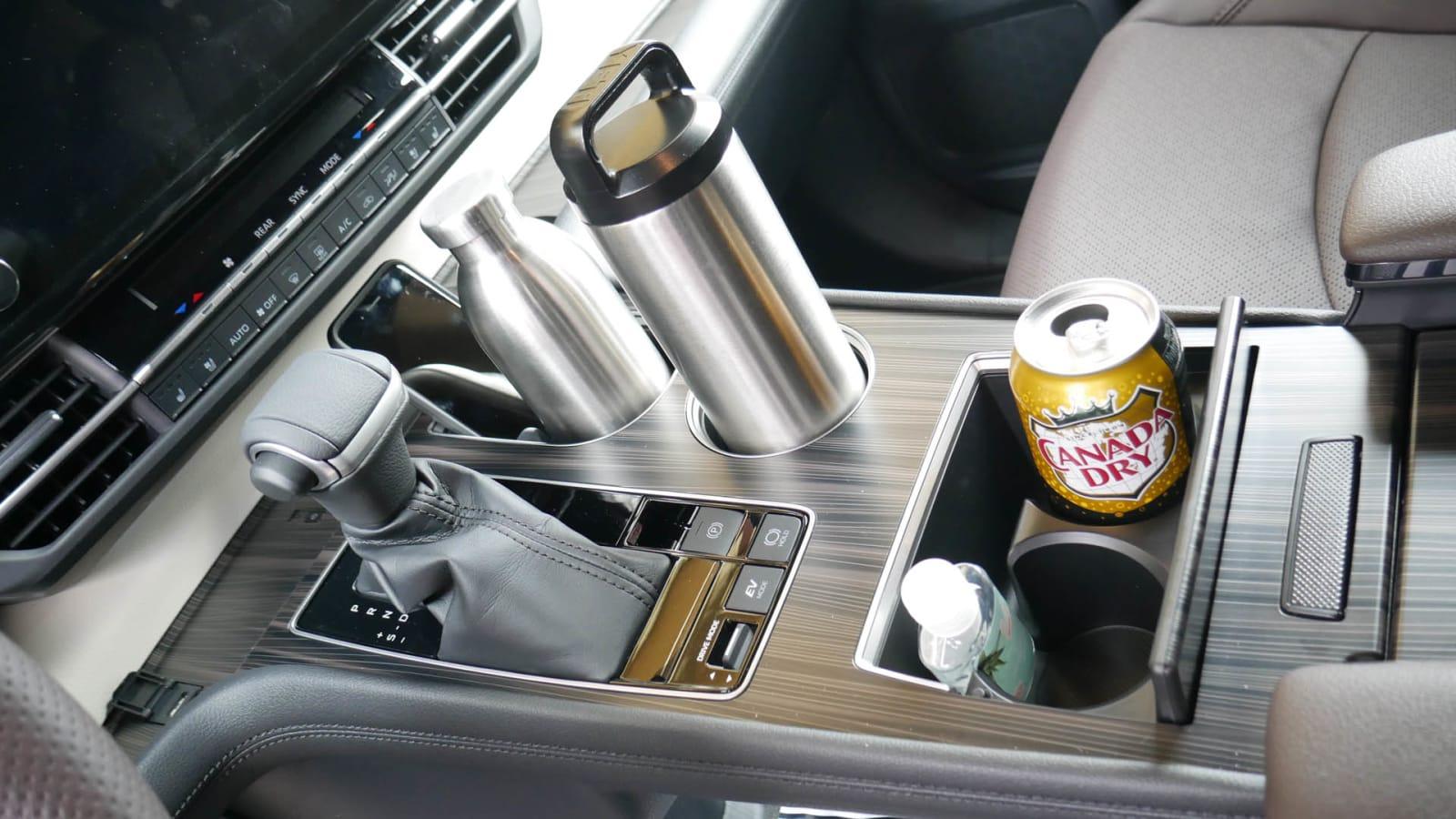 2021 Toyota Sienna interior storage center console loaded
