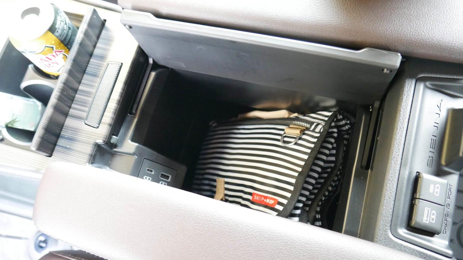 2021 Toyota Sienna interior storage diaper clutch in bin
