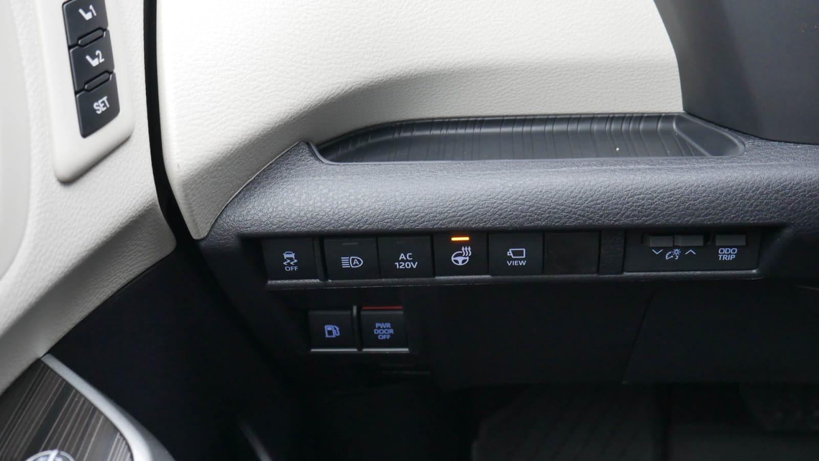2021 Toyota Sienna interior storage left bin