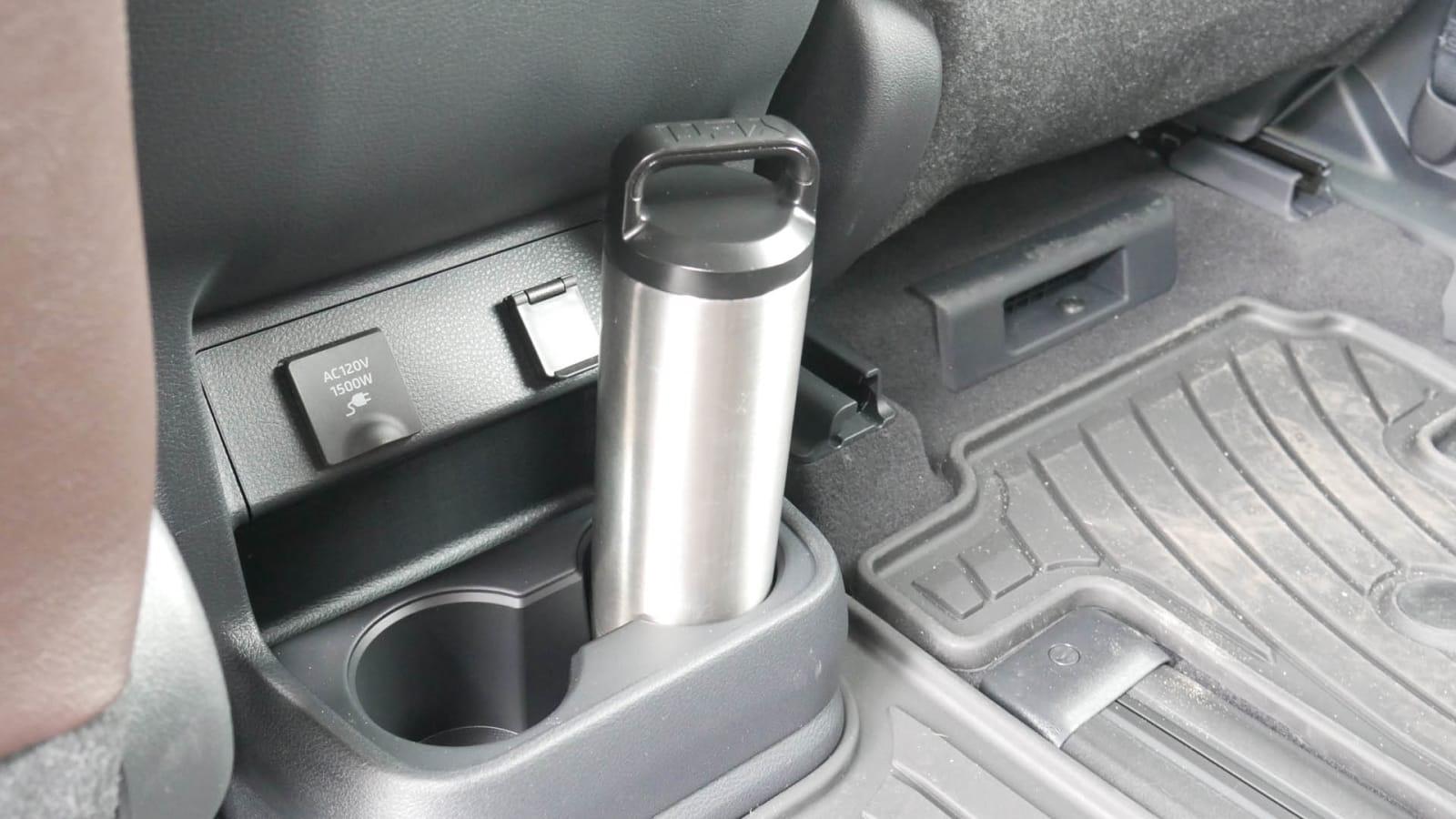 2021 Toyota Sienna interior storage rear center console cupholder