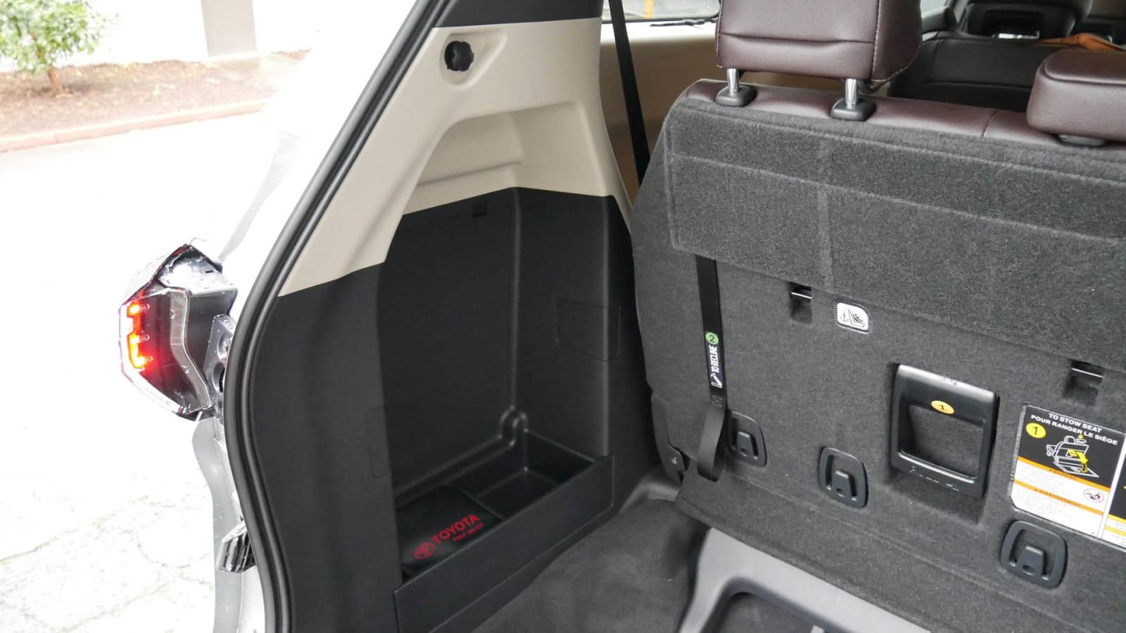 2021 Toyota Sienna interior storage cargo area storage