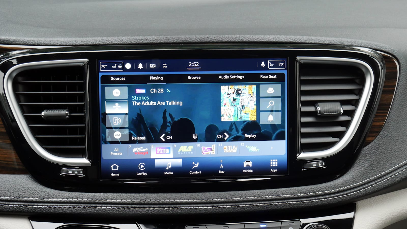 2021 Toyota Sienna Platinum interior uconnect audio