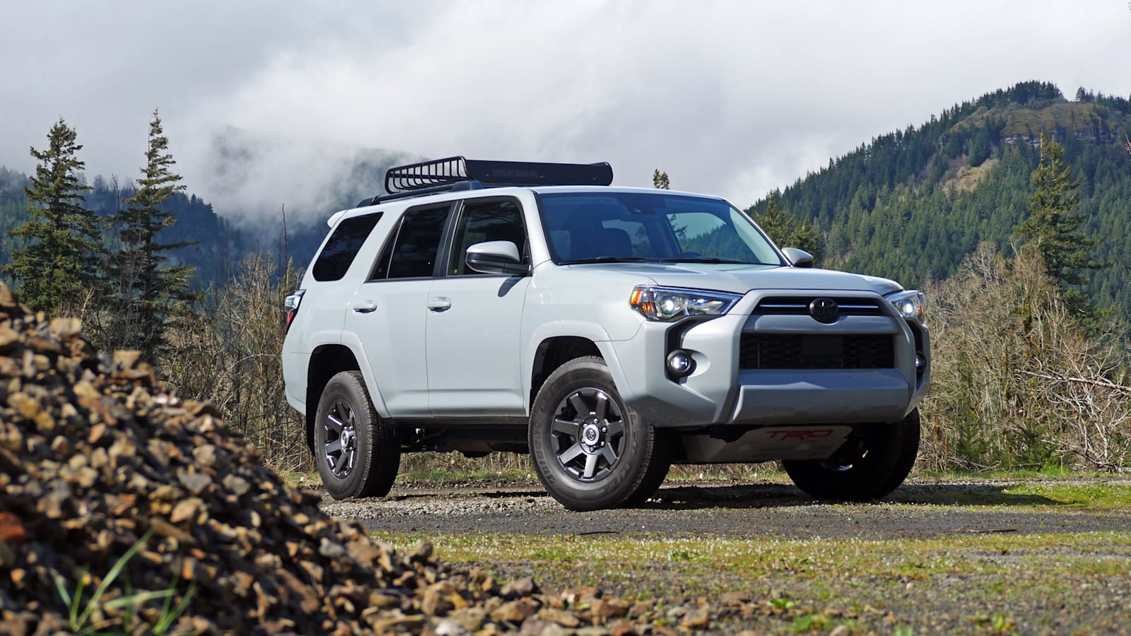 2021 Toyota 4Runner Trail Edition front three quarter low