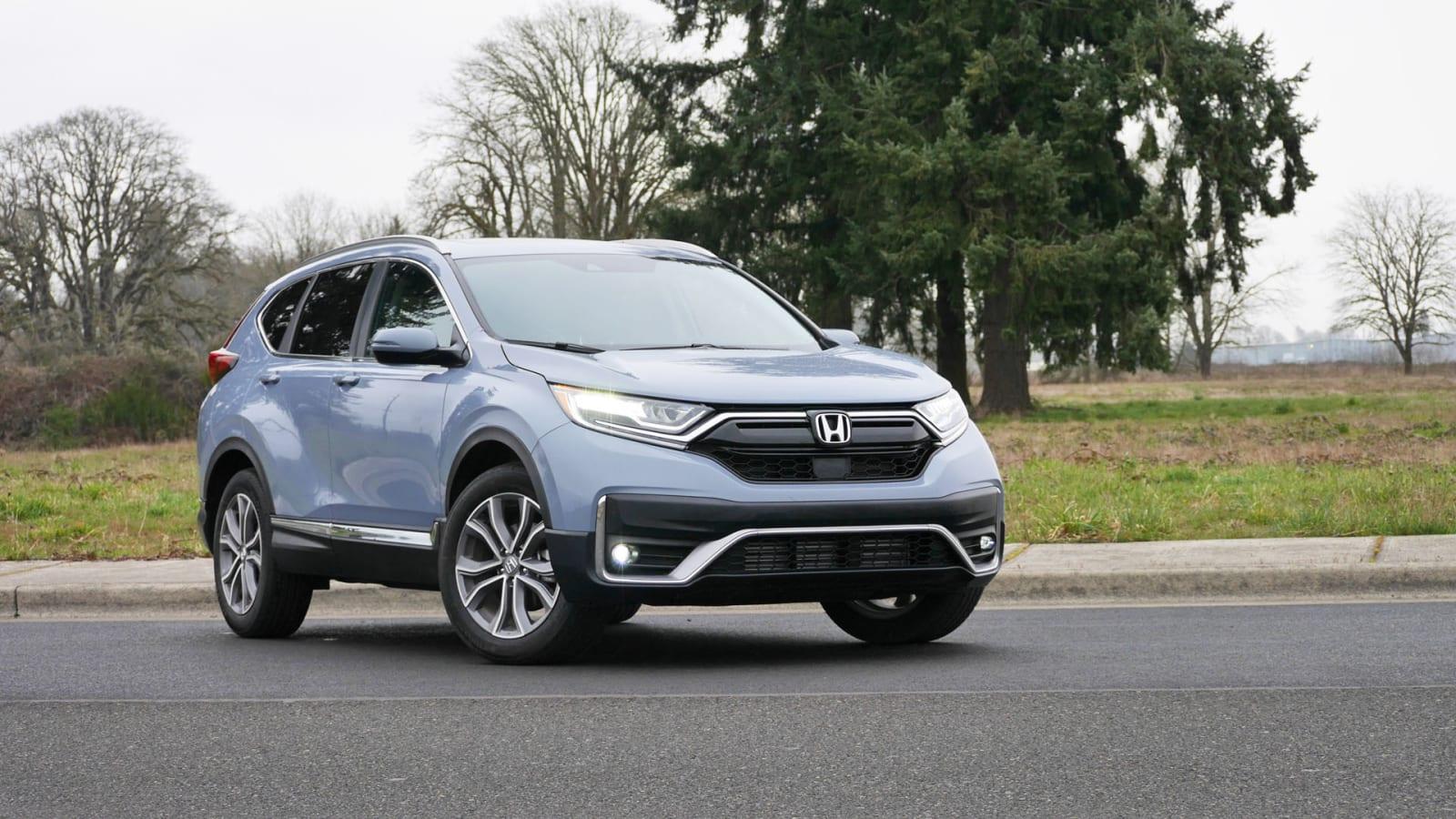 2021 Honda CR-V Touring in light blue