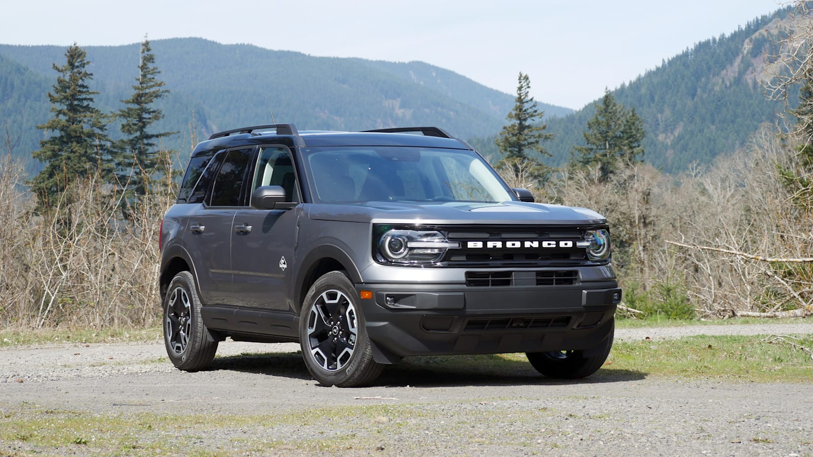 2021 Ford Bronco Sport Outer Banks front in gray